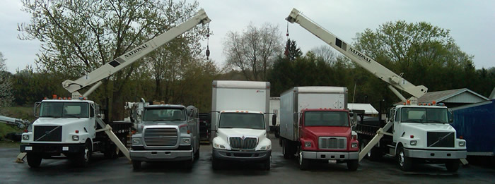 A Picture of Trucks on the Lot